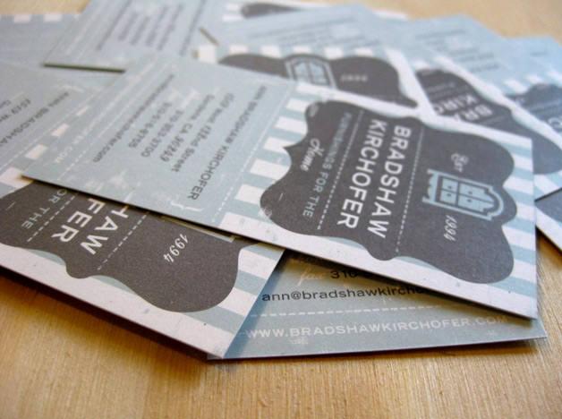 Bradshaw Kirchofer print design business cards