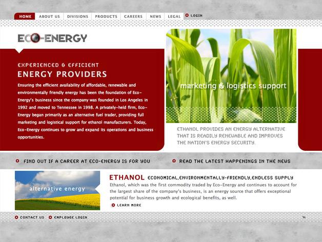 eco energy website design. Black Bedroom Furniture Sets. Home Design Ideas
