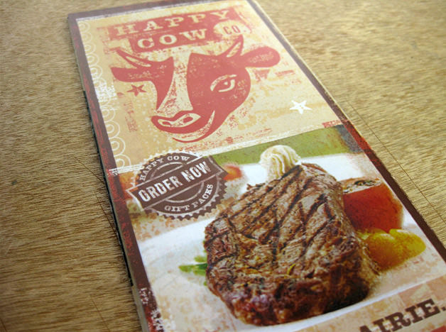 Happy cow Beef print design brochure