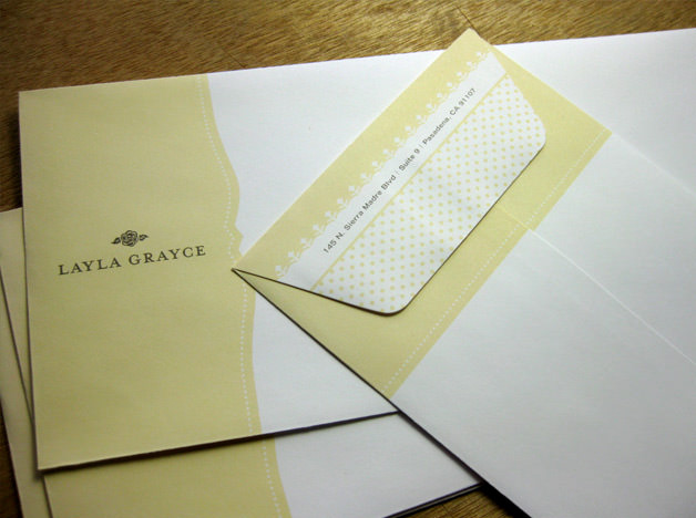 Layla Grayce print design envelopes