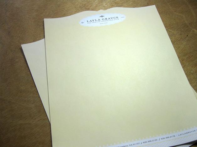 Layla Grayce print design letterhead
