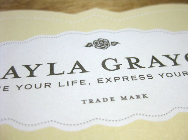 Layla Grayce print design card detail