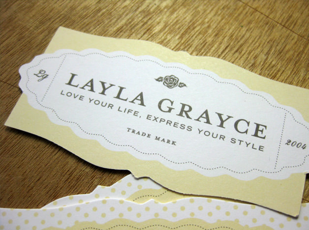 Layla Grayce print design business cards