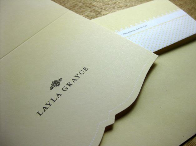 Layla Grayce print design correspondence cards